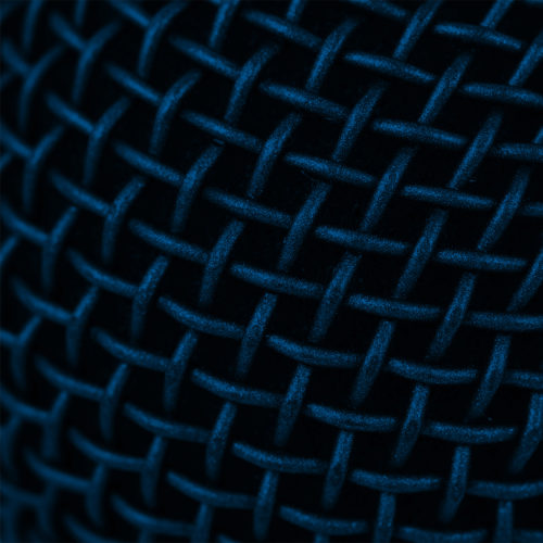 abstract extreme close-up of microphone