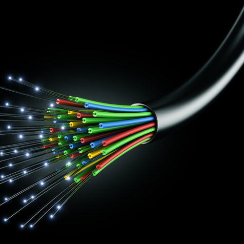 Graphic drawing of fiber optic cable